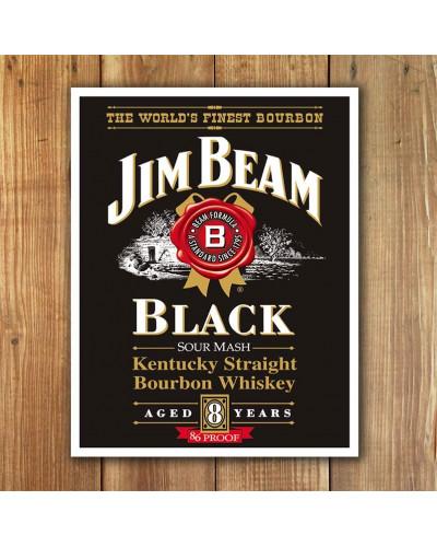 Plechová cedule Jim Beam - Black label 32 cm x 40 cm w