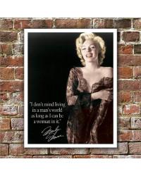 Plechová cedule Marilyn - Mans world 40 cm x 32 cm w