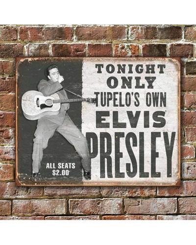 Plechová cedule Elvis - Tupelos Own 40 cm x 32 cm w