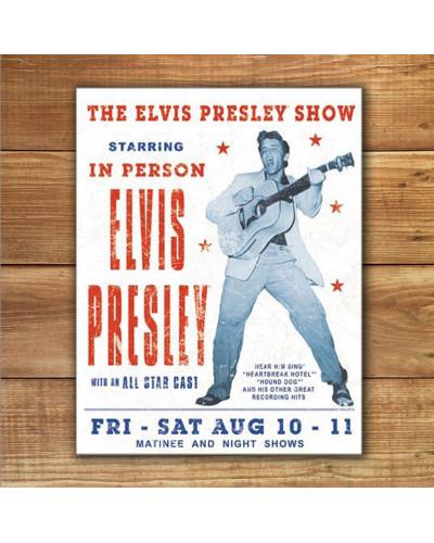 Plechová cedule Elvis Presley Show 40 cm x 32 cm w