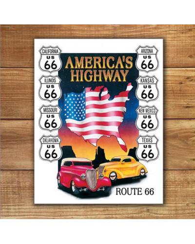 Plechová cedule Americas Highway 40 cm x 32 cm w