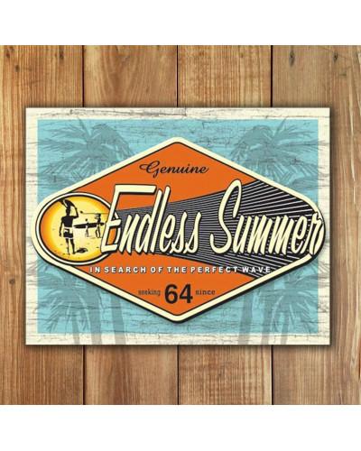 Plechová cedule Endless Summer - Genuine 40 cm x 32 cm w
