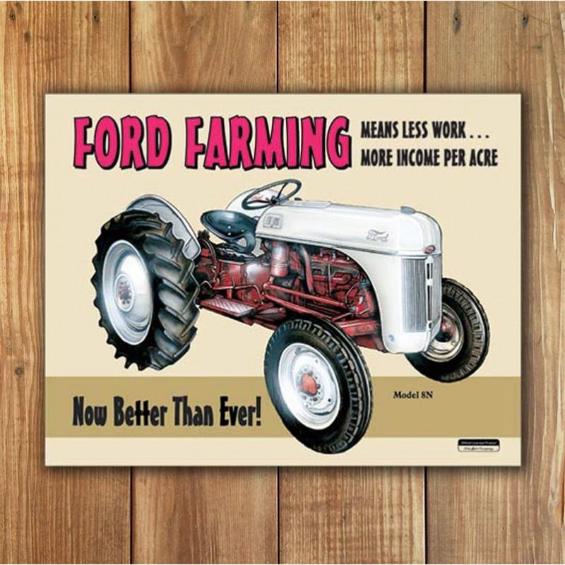 Plechová cedule Ford Farming 8N 40 cm x 32 cm w