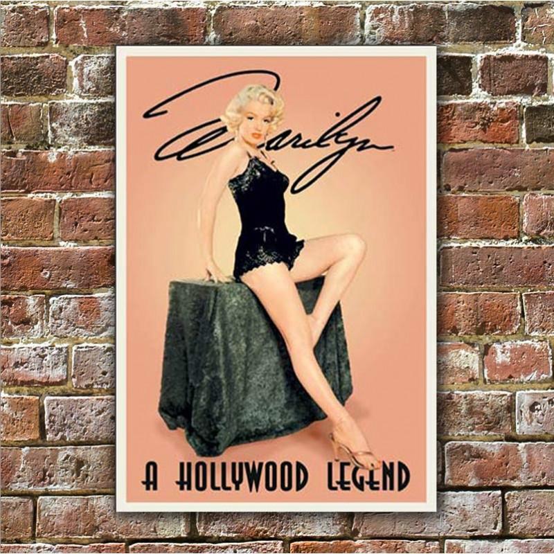 Plechová cedule Monroe Marilyn Hollywood Legend 40 cm x 32 cm w