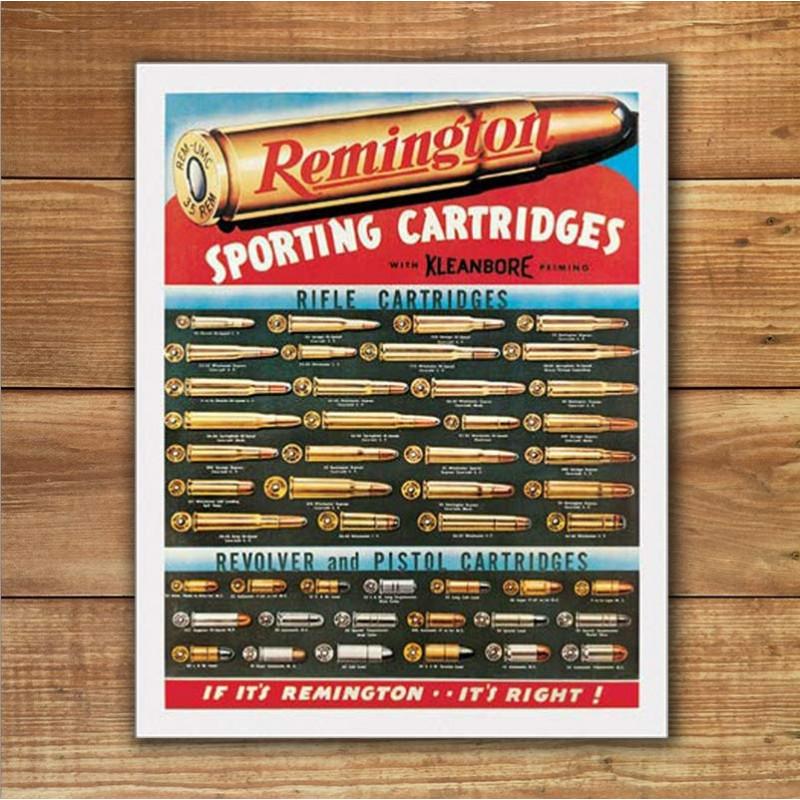 Plechová cedule Remington Cartridges 32 cm x 40 cm w