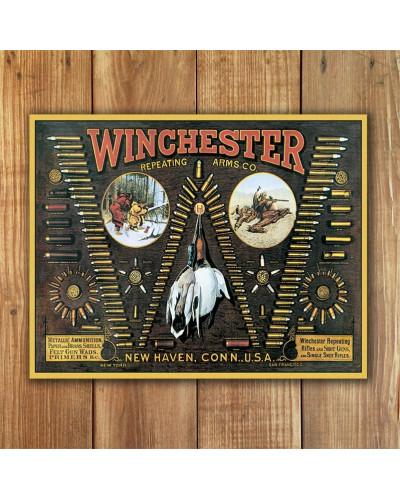 Plechová cedule Winchester Bullet Board 32 cm x 40 cm w