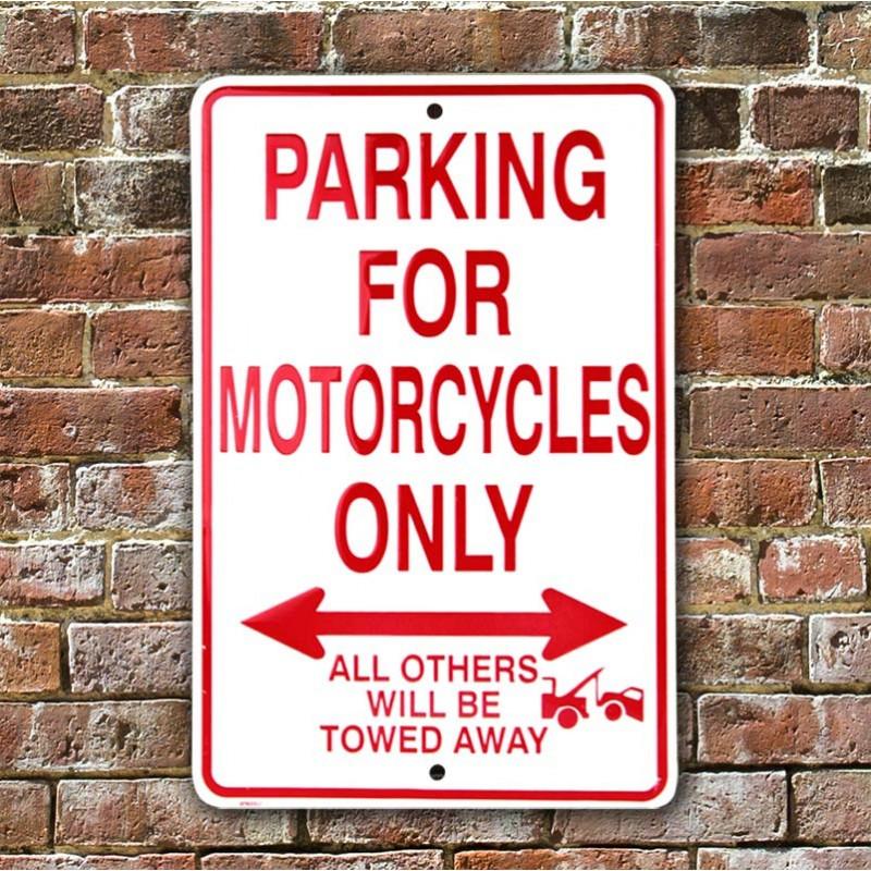 Plechová cedule Motorcycles Parking Only 20 cm x 30 cm w