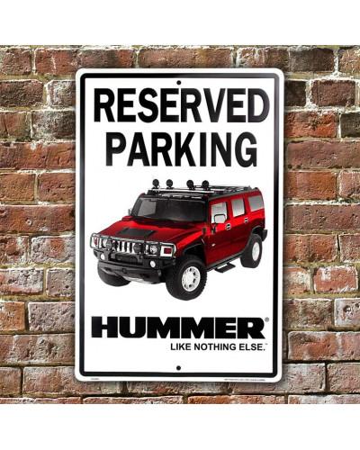 Plechová cedule Hummer Parking 30 cm x 45 cm