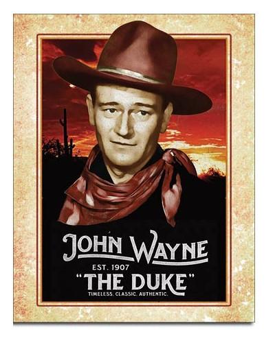 plechová cedule John Wayne - Classic 32cm x 40cm var.