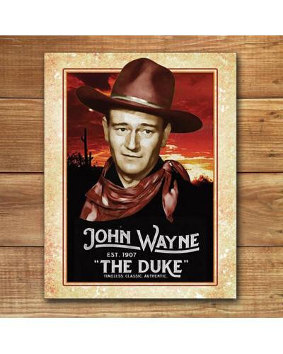 Plechová cedule John Wayne - Classic 32cm x 40cm