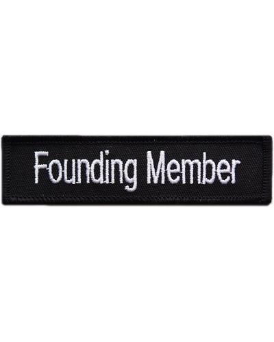 Moto nášivka Founding member 10cm x 2,5cm