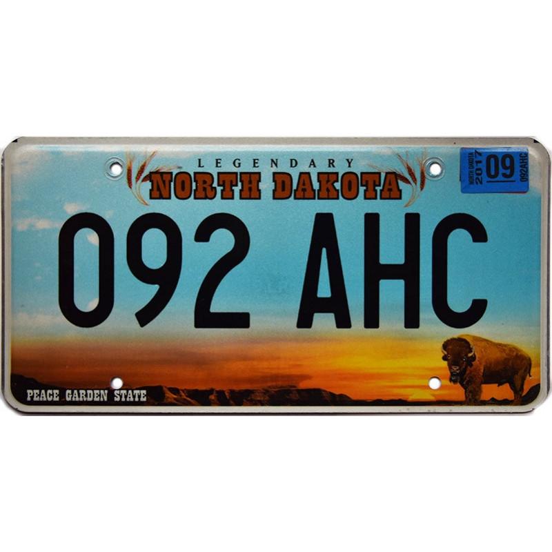 Americká SPZ North Dakota Legendary