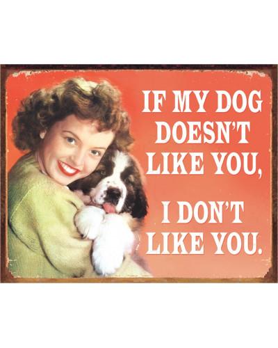 Plechová cedule Ephemera - My Dogs Likes 32 cm x 40 cm