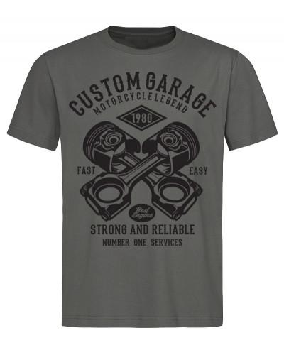 Pánské tričko Custom Garage šedé