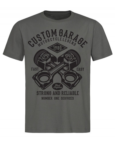 Tričko Custom Garage šedé