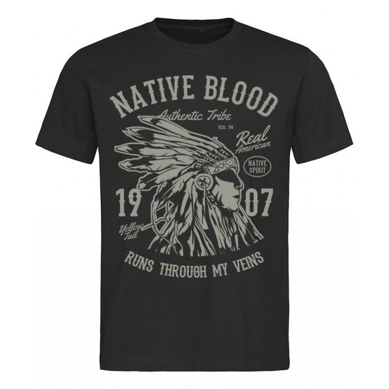 Tričko Native Blood černé