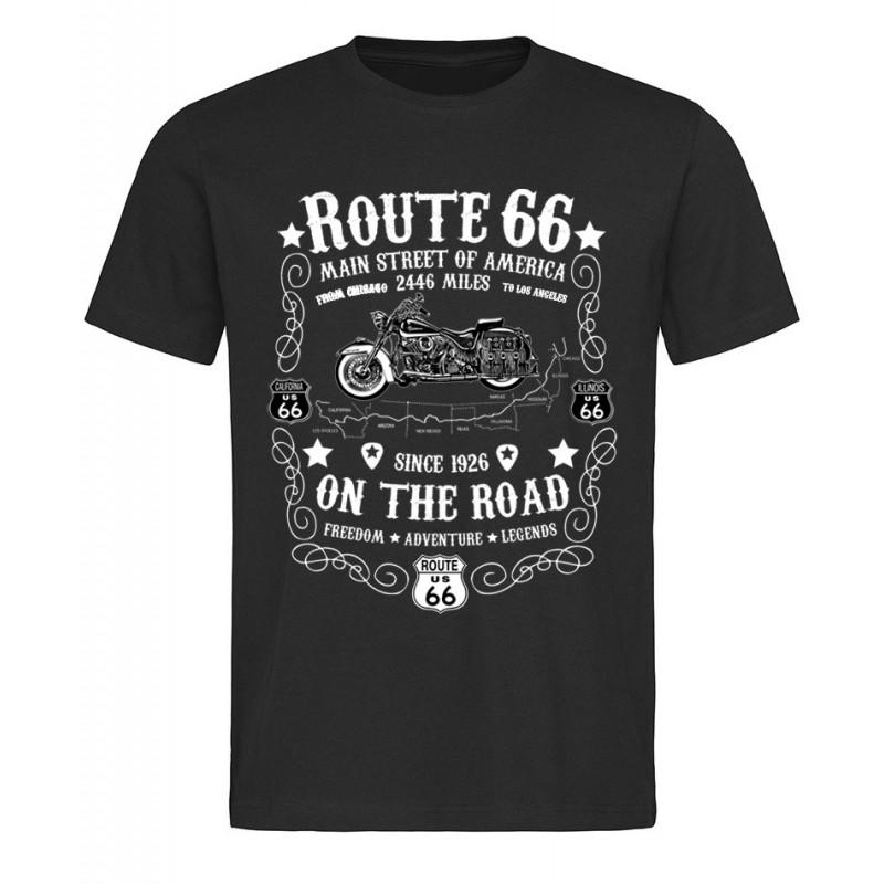Pánské tričko Route 66 On The Road černé