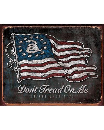 Plechová cedule DTOM - Vintage Flag 40 cm x 32 cm