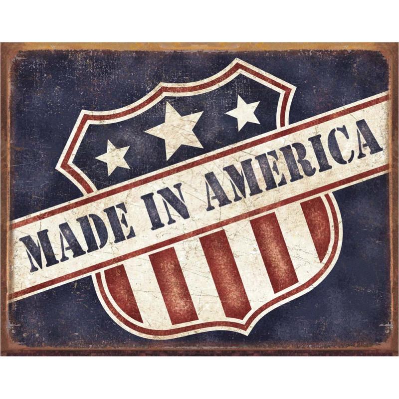 Plechová cedule Made in America 40 cm x 32 cm