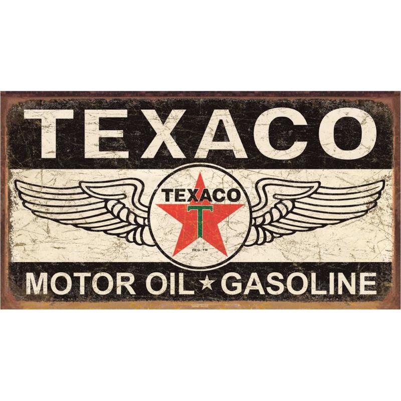 Plechová cedule Texaco Winged Logo 27cm x 40cm