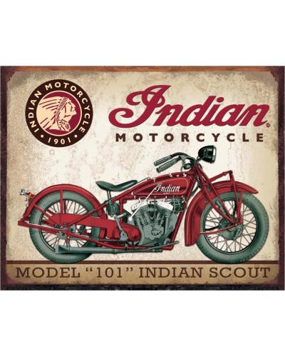 Plechová cedule Indian Scout 40 cm x 32 cm x