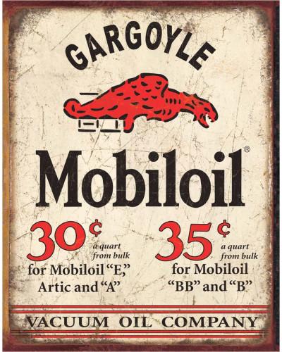Plechová cedule Mobiloil Gargoyle 40 x 32 cm x