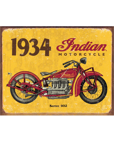 Plechová cedule 1934 Indian 40 cm x 32 cm x