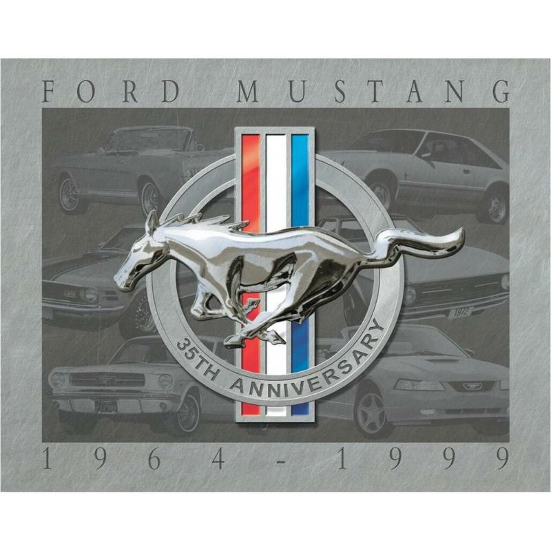 Plechová cedule Mustang 35th Anniversary 32cm x 40cm
