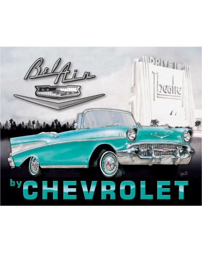 Plechová cedule 1957 Chevy Bel Air 32cm x 40cm