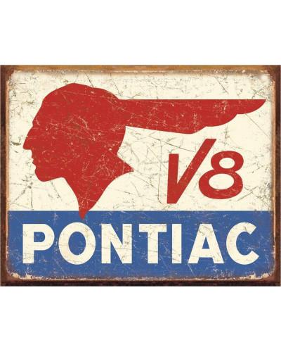 Plechová cedule Pontiac V8 40 cm x 32 cm