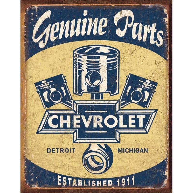 Plechová cedule Chevy Parts - Pistons 40 cm x 32 cm