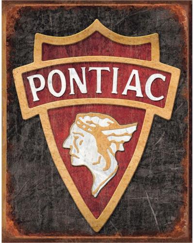Plechová cedule 1930 Pontiac Logo 40 cm x 32 cm