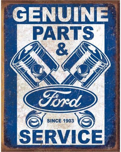 Plechová cedule Ford Service - Pistons 40 cm x 32 cm