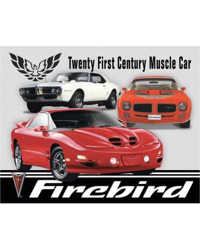 Plechová cedule Pontiac Firebird Tribute 40 cm x 32 cm