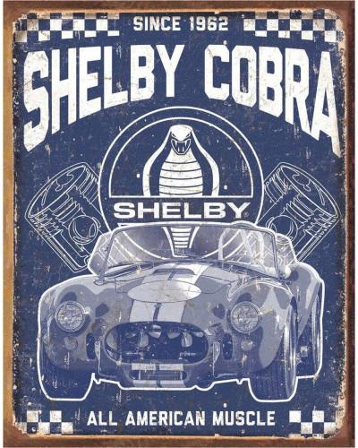 Plechová cedule Shelby - American Muscle 40 cm x 32 cm