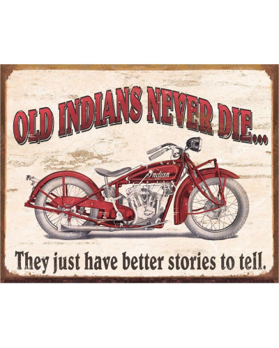 Plechová cedule Indian - Better Stories 40 cm x 32 cm