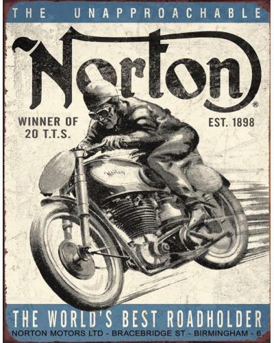 Plechová cedule Norton - Winner 40 cm x 32 cm