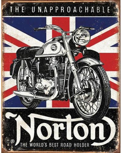 Plechová cedule Norton - Best Roadholder 40 cm x 32 cm