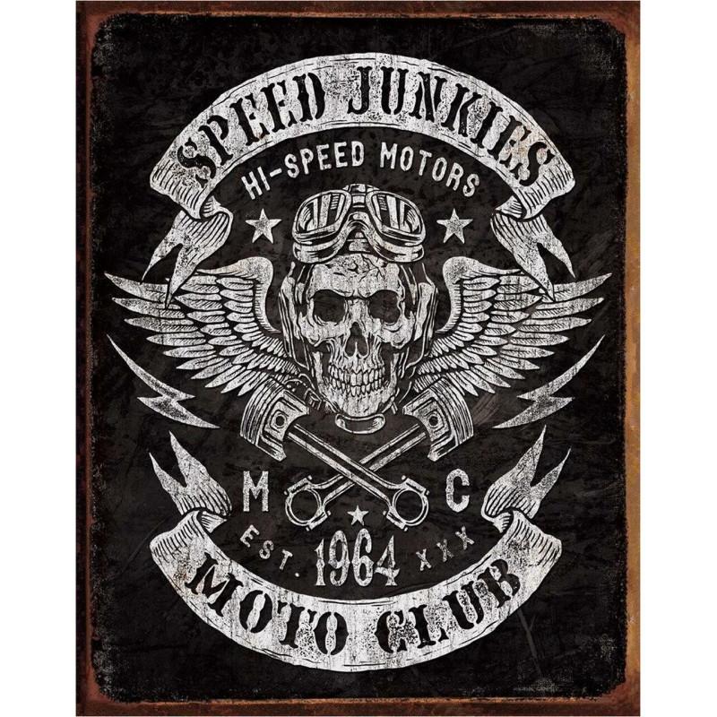 Plechová cedule Speed Junkies 40 cm x 32 cm