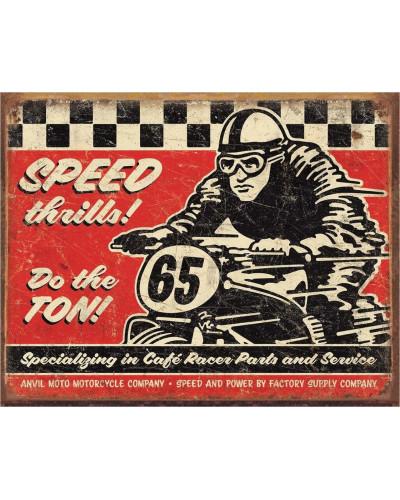 Plechová cedule Speed Thrills 40 cm x 32 cm