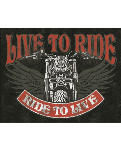 Plechová cedule Live to Ride - Bike 32 cm x 40 cm