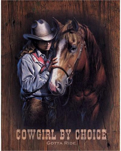 Plechová cedule Cowgirl by Choice 40 cm x 32 cm