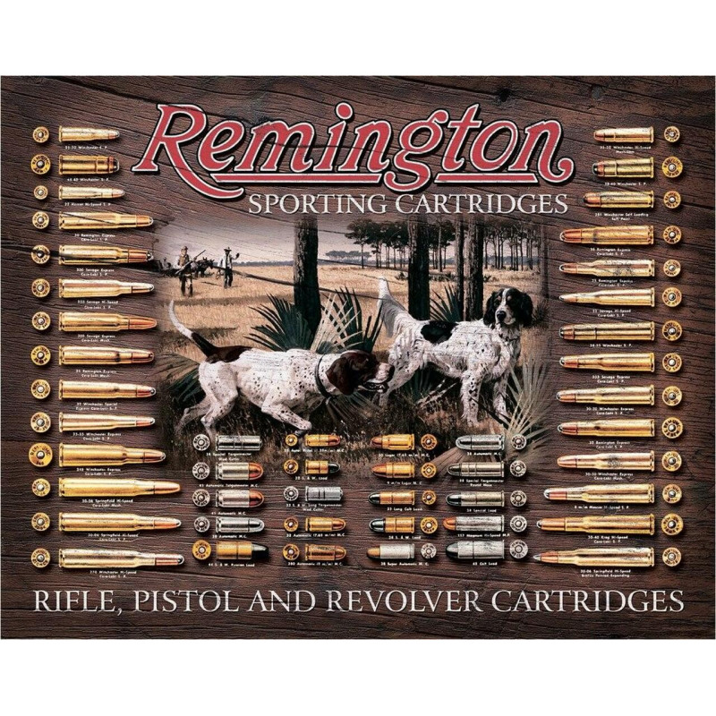 Plechová cedule Remington Bullet Board 40 cm x 32 cm