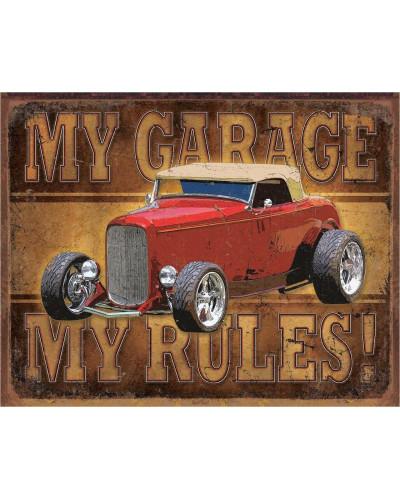 Plechová cedule My Garage - ROD 40 cm x 32 cm