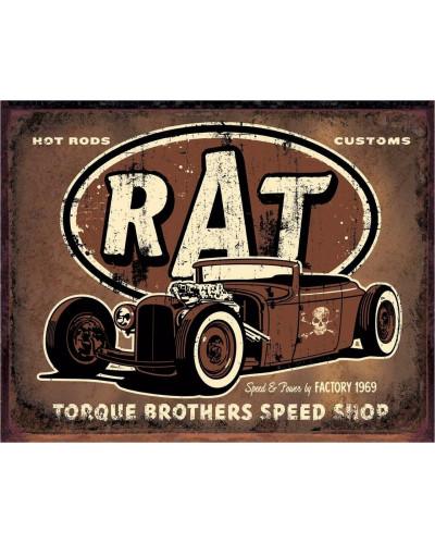 Plechová cedule Torque - Rat Rod 40 cm x 32 cm