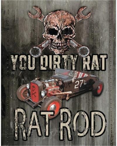 Plechová cedule Legends - Dirty Rat 40 cm x 32 cm