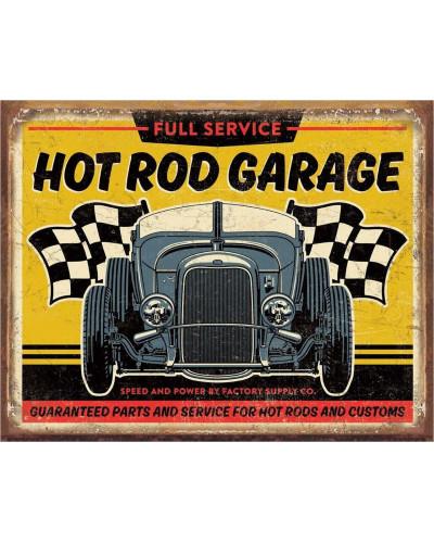 Plechová cedule Hot Rod Garage - 32 Rod 40 cm x 32 cm