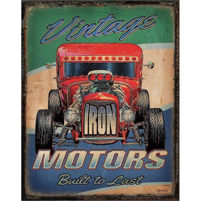Plechová cedule Vintage Motors 40 cm x 32 cm