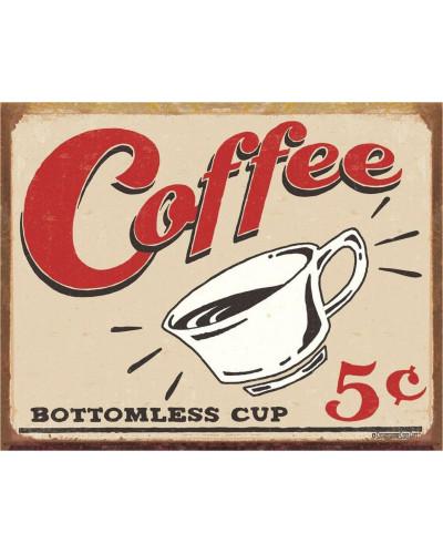 Plechová cedule Schonberg - Coffee 5 cents 40 cm x 32 cm