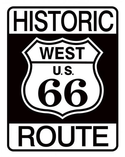 Plechová cedule Historic Route 66 32 cm x 40 cm